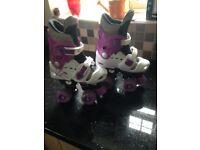 Rollerskates. Adjustable size 10-12