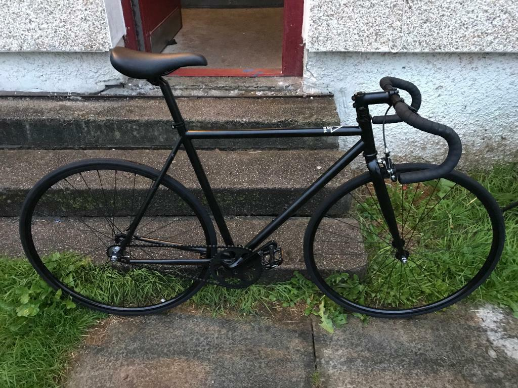 State Bicycle Matte Black 6 Fixed Gear Single Speed Bike Nearly