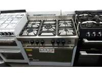 New graded Universal 90cm gas range cooker with 12 months guarantee