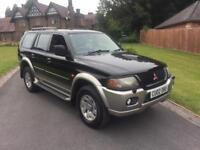 2002 MITSUBISHI SHOGUN SPORT 2.5 TD ** JUST 33000 MILES ** FAMILY OWNED