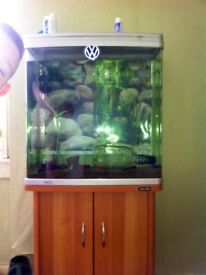 Aqua one fish tank and accessories £80 for all
