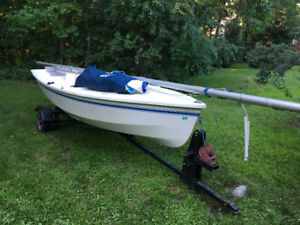 CL14 sailboat and road trailer- easy to learn, sail, family fun