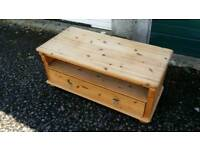 Solid wood chest . Was a TV cabinet