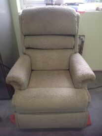 Riser/recliner chair. Excellent working order. Good condition. Light sage green. £100 ono