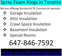 Spray Foam Insulation Services in Toronto (647) 846-7592