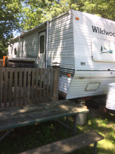 29 1/2 FOOT TRAILER  , INC. LOT FEES, DECK, SHED