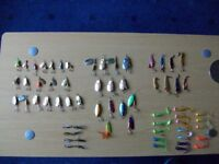 FISHING SPINNERS & LURES [ 61 brand new with box ]