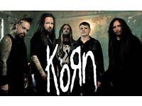 2 x Korn standing tickets London 23.8.17