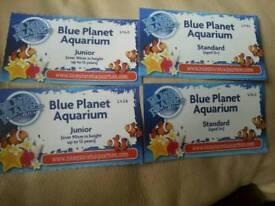 2 adult ,2 junior 4 blue planet aquarium ticket