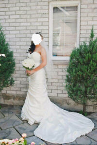 Wedding Dress by Maggie Sottero (Adorae) with Veil
