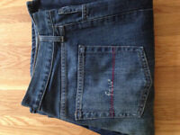 """FCUK 'King Crimson Ohio' Men's Bootcut Jeans (34""""W x 32""""L) (never worn) JUST REDUCED"""