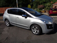 Peugeot 3008 Exclusive 1.6 HDi. FSH with recent service, New MOT, Excellent Condition
