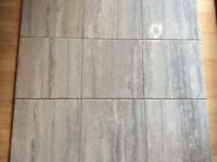 Job lot 13 sqm of of grey white marble effect wall floor tiles
