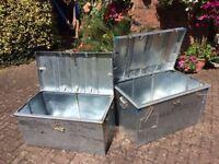 Twin metal storage boxes!