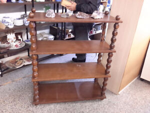 SOLID MID CENTURY BOOK STAND ONLY $49.00