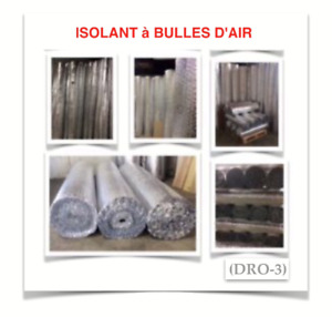 (DRO-3) ISOLANTS À BULLES D'AIR ~ {0.10$ /P.C} - 35.00$ /ROUL.