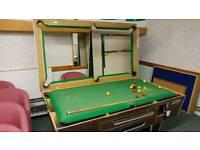 Premier 7×4 pub style slate bed pool table