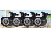 4 X AHD 720p cameras - brand new in box