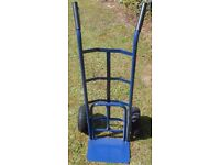 Large Blue Industrial Heavy Duty Hand Sack Truck/Trolley with Pneumatic Tyres