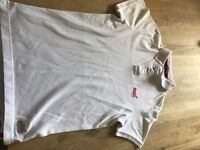 White/Red Superdry Polo Shirt LARGE