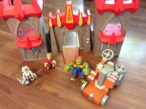 Castle, catapult, and troll