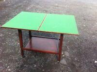 Vintage slide and fold card table