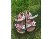 Joules girls sandals size 13
