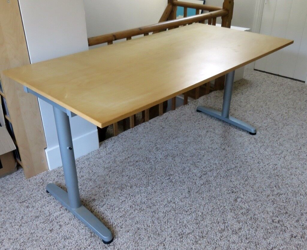 Office Study Or Home Desk Metal Surame Legs Originally From Ikea