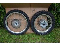 Honda CRF 250L Wheels complete. Used a couple of times. Excellent condition.