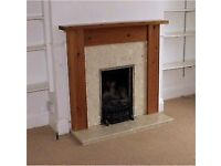 Solid Wood and Marble Mantlepiece,fireplace surround and hearth