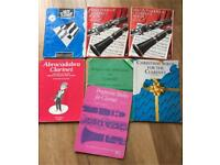 Collection of Clarinet teaching books and sheet music
