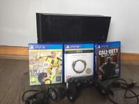 PlayStation 4 500gb bundle 3 games and controller