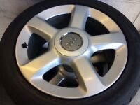 """Audi 17"""" alloy wheels with great tyres"""