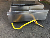 Top range Lava rock grill, industrial, gas connectors included