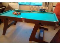 6x3 fold away pool/snooker table