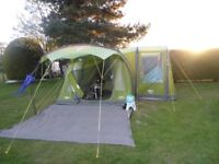 Vongo Solaris 400 Airbeam Tent, footprint and Airbeam Excel Side Awning Standard for Solaris 400