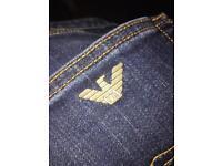 "Georgio Armani blue jeans size 32"""