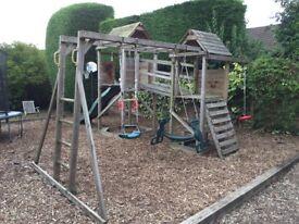 Fantastic wooden climbing frame