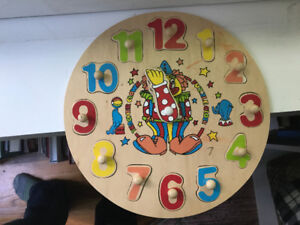 Wooden Clock Puzzle and 2 Jigsaw Puzzles