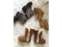 Girls boots bundle - size 4.5 & 5
