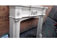 marble style fire surround mantle and back plates marble