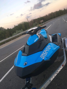 2016 seadoo spark IBR 90 hp 2 up with galvanized trailer