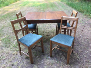 Vintage Solid Wood Table & Chairs
