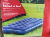 Single air bed. Located in SA9