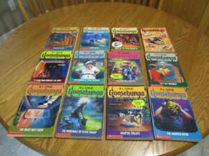 12 Goosebumps Books  excellent and clean condition