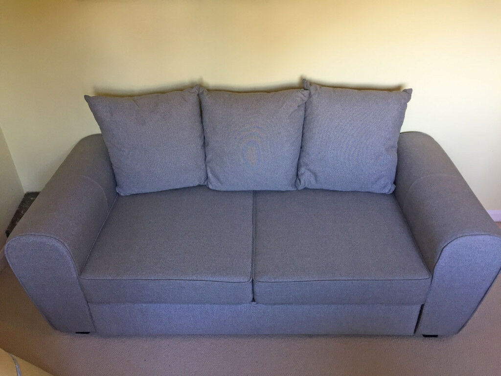 Anne Fabric Sofa Bed Grey Like New Used Only 3 Times