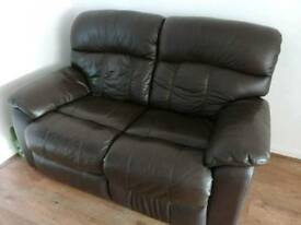 Reclining 2 seater sofa