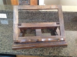 Antique book stand that swivels