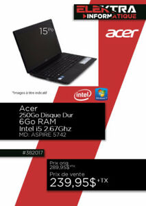 382017....ORDINATEUR PORTABLE ACER....$239.95