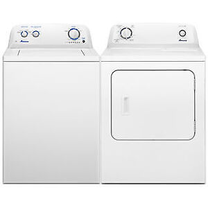 Amana washer and dryer pair. New in box. Warranty. Save $299